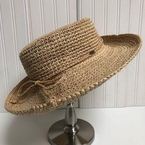 Scala Crocheted Raffia Sun Hat